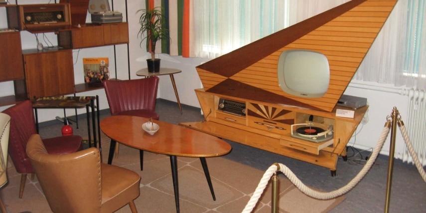 50er Jahre Wohnzimmer im Radiomuseum  Bad Laasphe