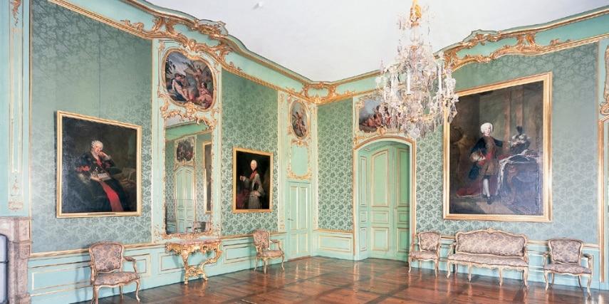 Raum im Appartement von Herzog Carl Eugens im neuen Hauptbau.