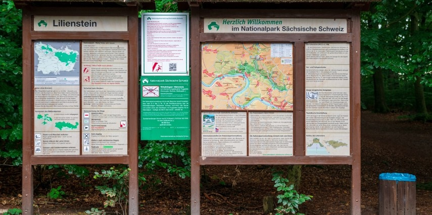 Sächsische Schweiz Wegweiser Karte