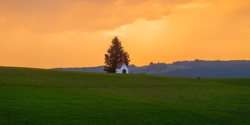 Ammergauer Alpen Sonnenuntergang