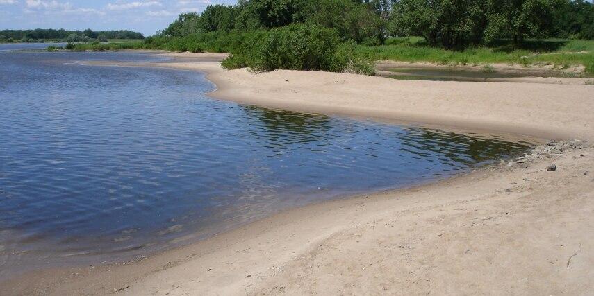 Sandstrand an der Elbe