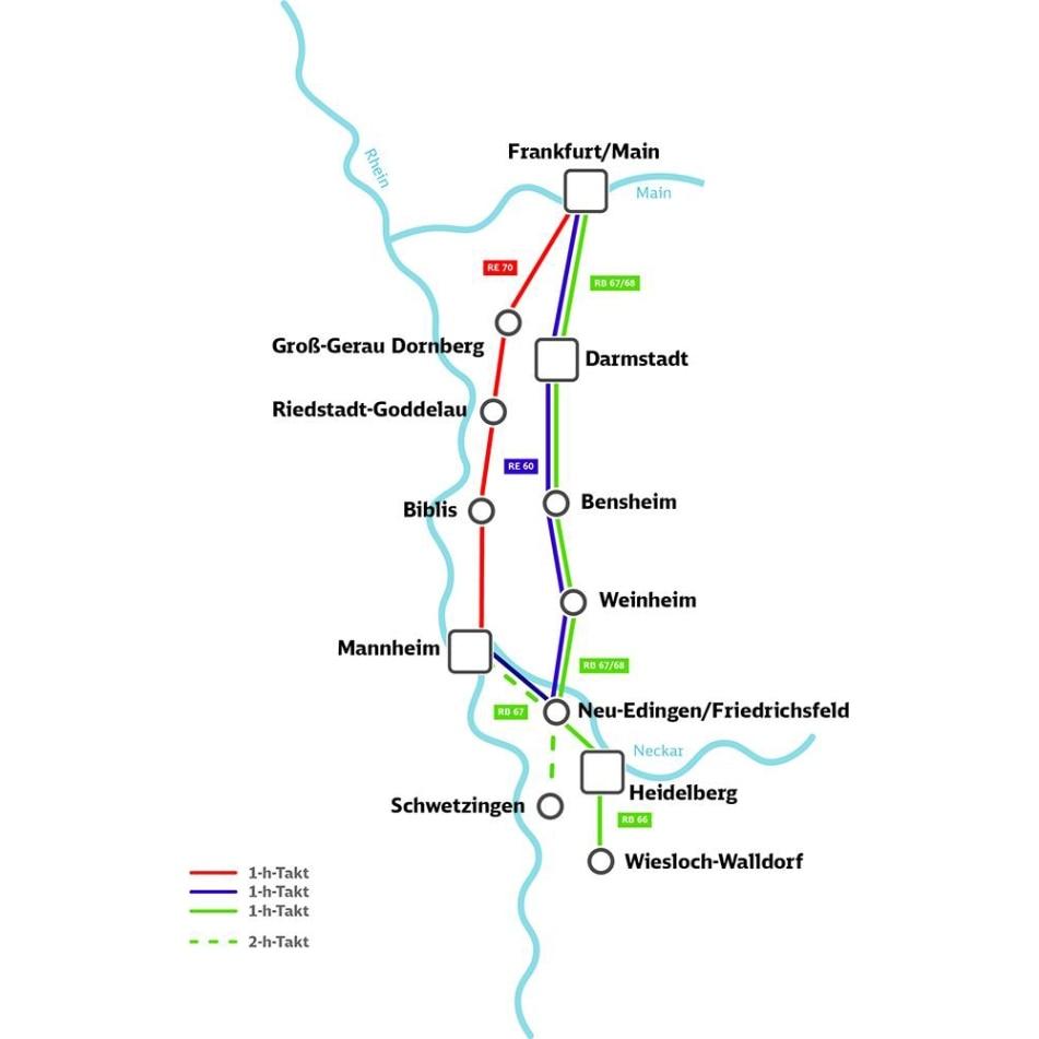 Main-Neckar-Ried-Express Linienplan