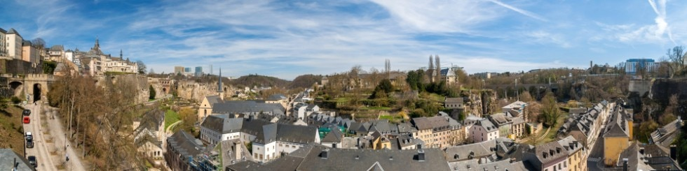 Panoramic view of Luxembourg old town