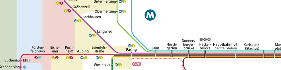 MVV Netzplan Ausschnitt