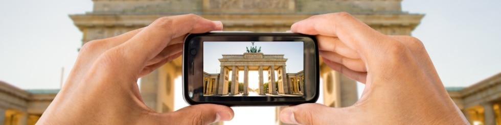 Mobile phone photo of the Brandenburg Tor
