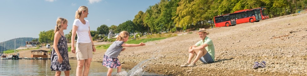 Familie am See, Edersee
