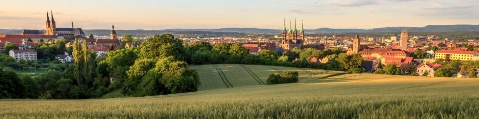Bamberg bei Sonnenuntergang