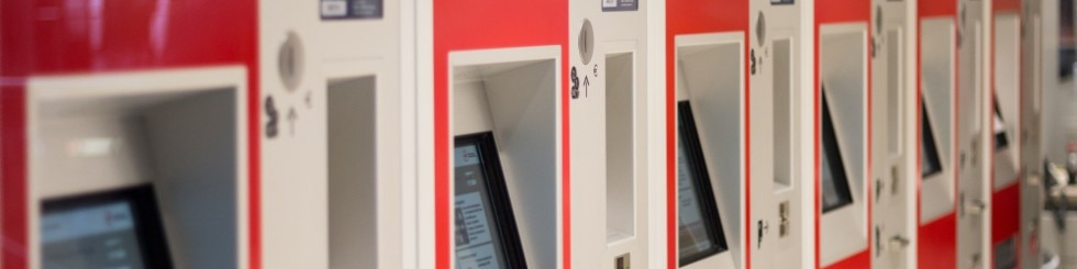 Train ticket vending machines