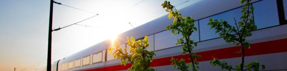 ICE 1 Baureihe 401 von Berlin nach M�nchen im Gegenlicht