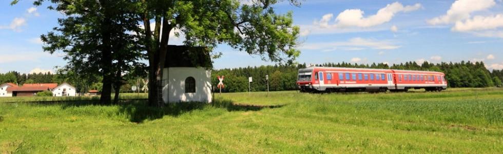Triebwagen VT 628, Südostbayernbahn, Burghausen, Kapelle bei Stadl