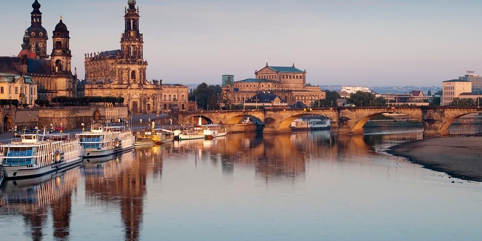 Dresden Brühl Terrassen am Abend