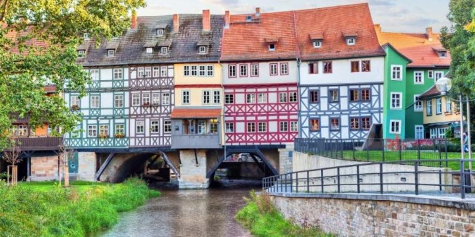 Krämerbrücke in Erfurt, Thüringen