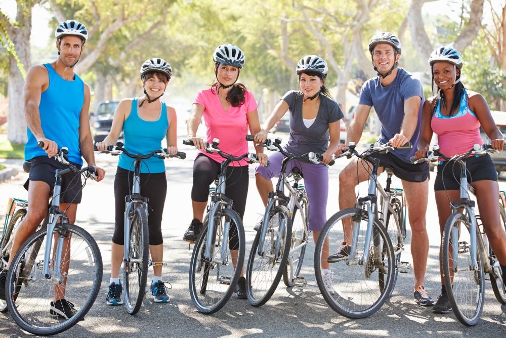 Gruppe Fahrradfahrer