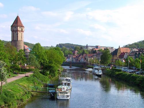 Fluss in Wertheim (Main)