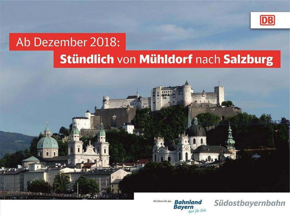 Stündlich von Mühldorf nach Salzburg
