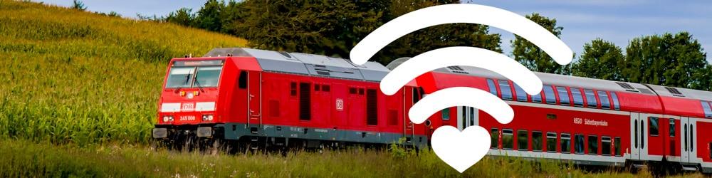 Zug und WLAN-Symbol