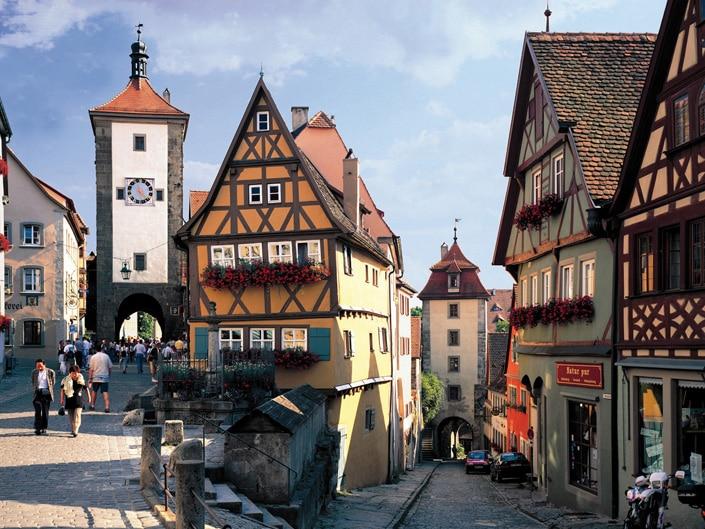 Half-timbered houses in Rothenburg ob der Tauber