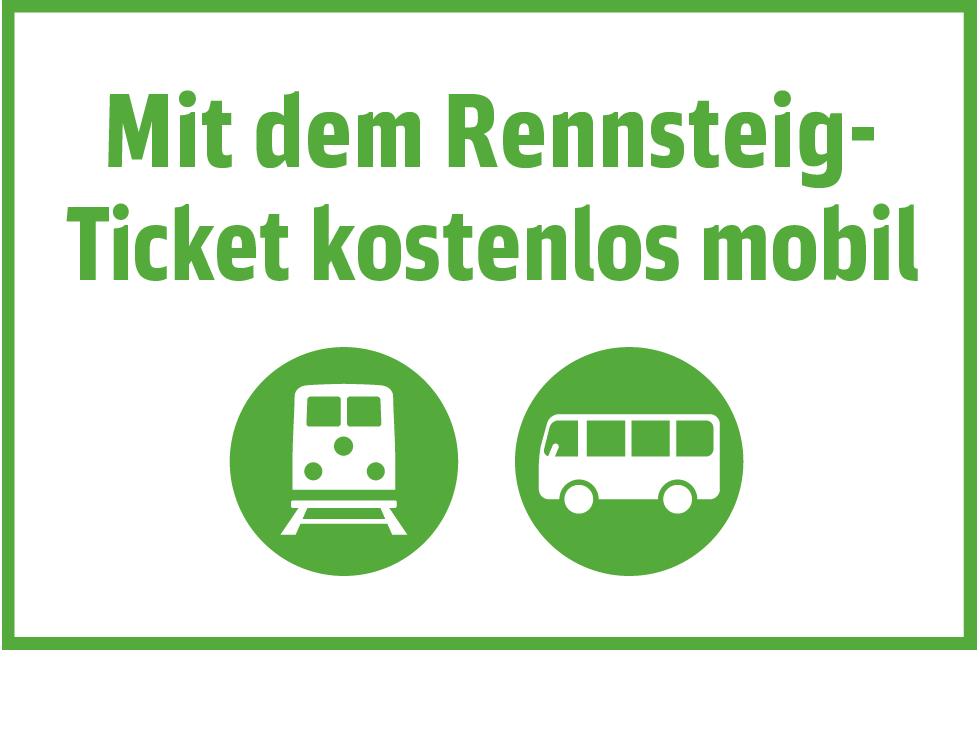 Mit dem Rennsteig-Ticket kostenlos mobil
