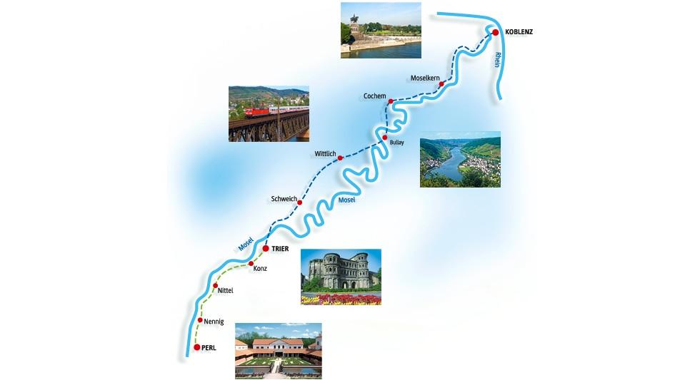 Streckenverlauf-Karte