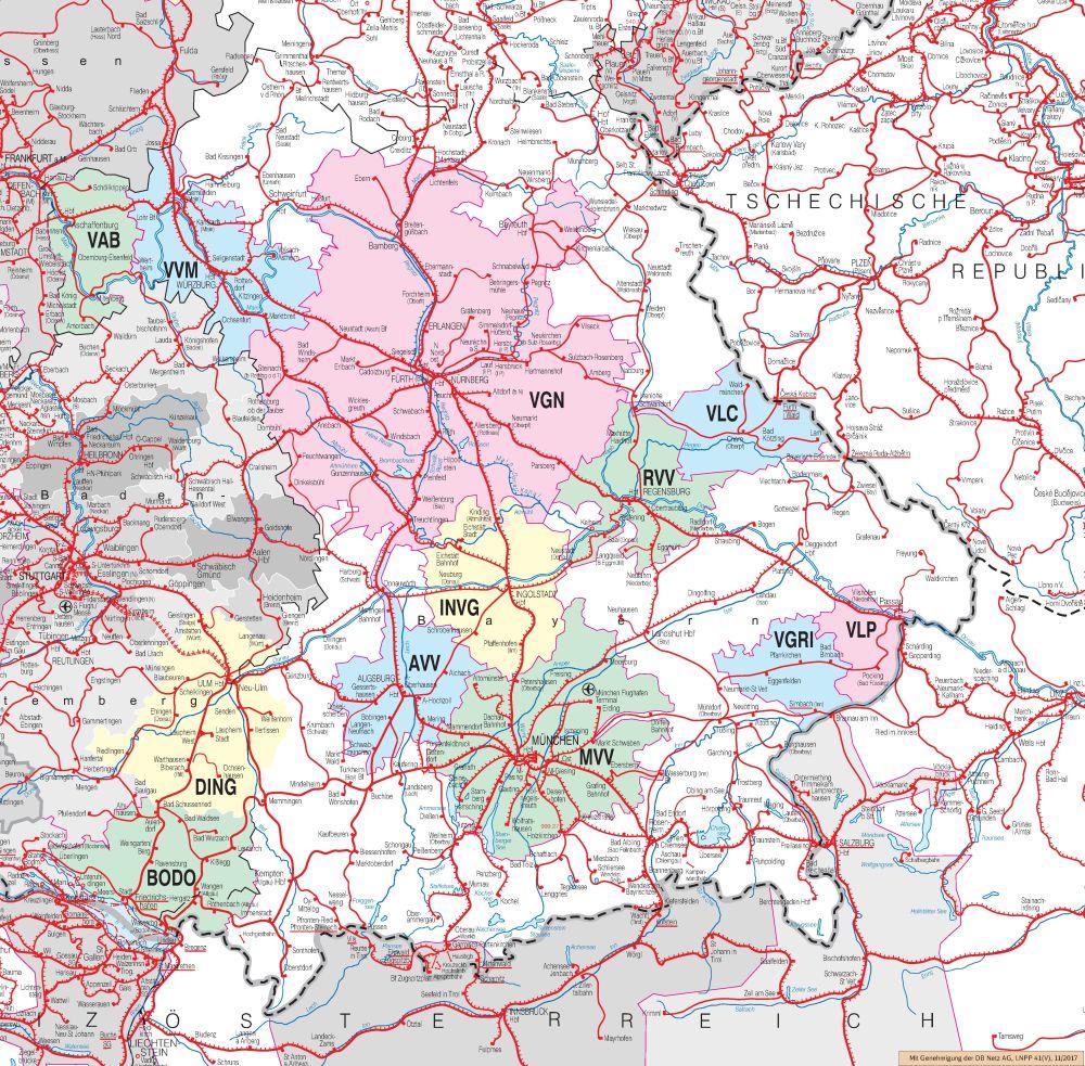 Verbundkarte Bayern
