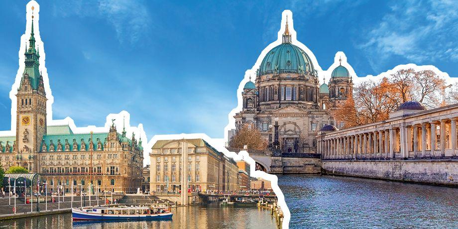 Collage Berlin - Hamburg