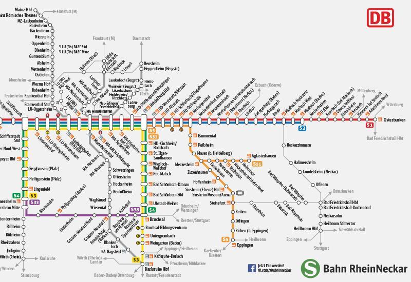 Streckennetzkarte