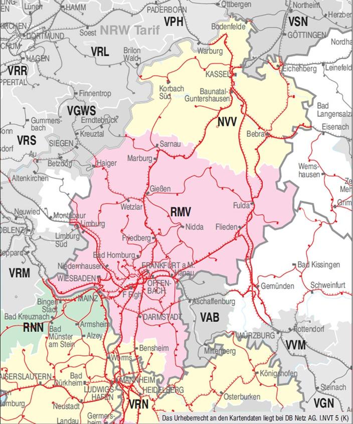 Verbundkarte Hessen