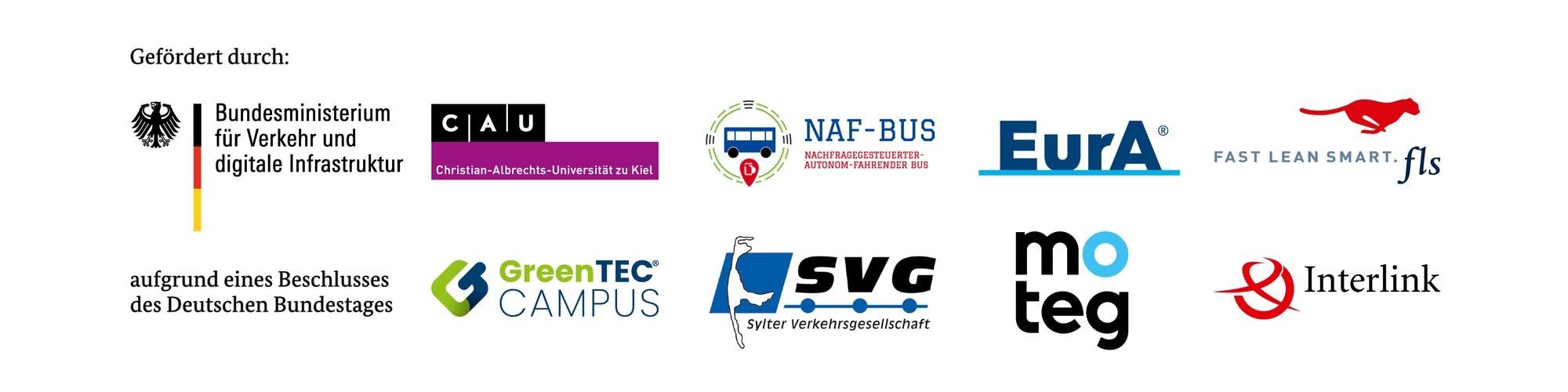 Logos von NAF-Bus Projektpartnern
