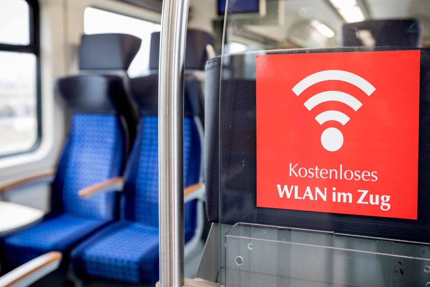 Regionalbahn mit kostenlosem WLAN im Zug