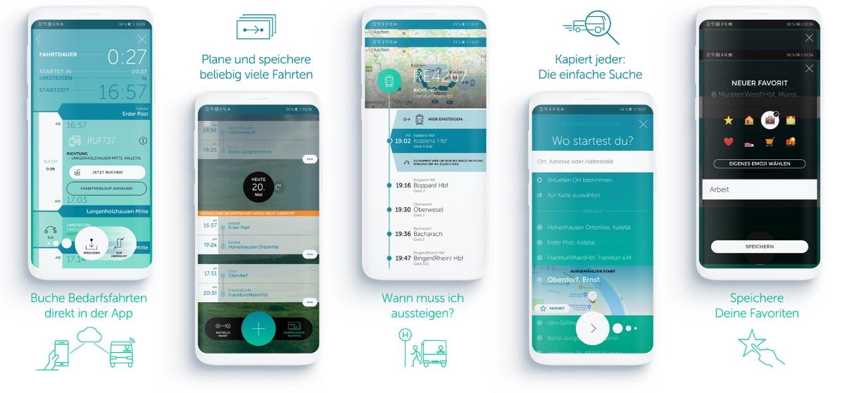 iPhone mit Wohin·Du·Willst App