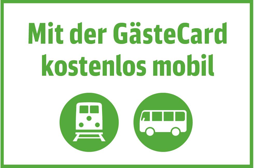 Mit der GästeCard kostenlos mobil