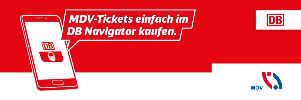 MDV-Tickets einfach im DB Navigator kaufen.