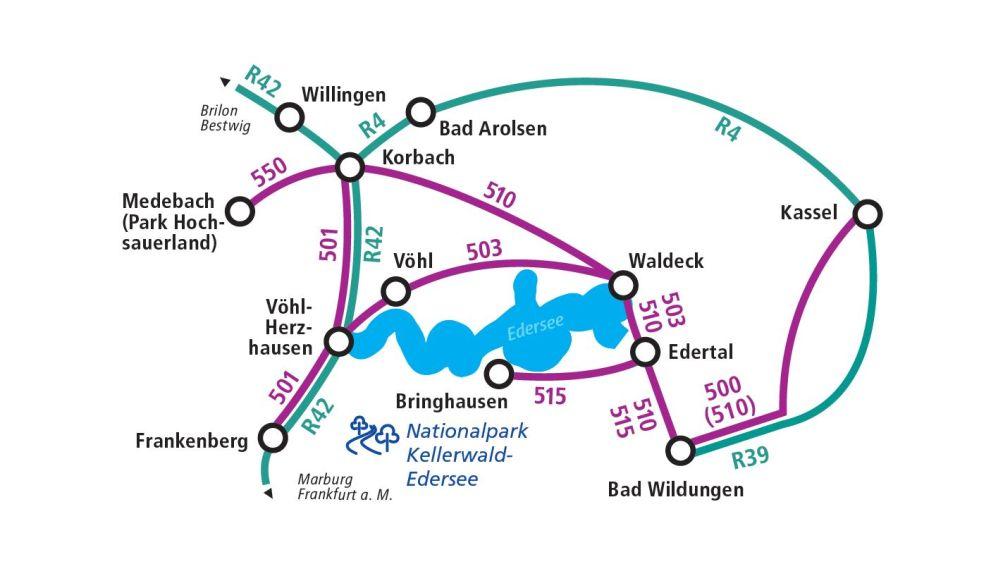 Edersee Karte