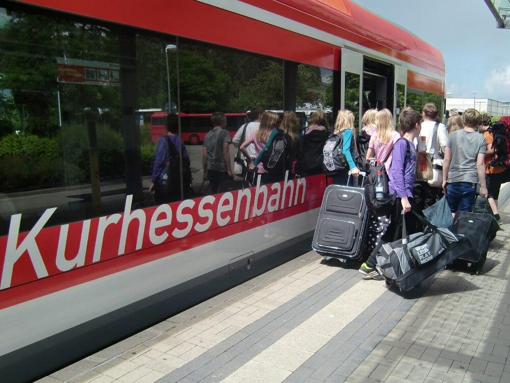 Einstieg in die Kurhessenbahn