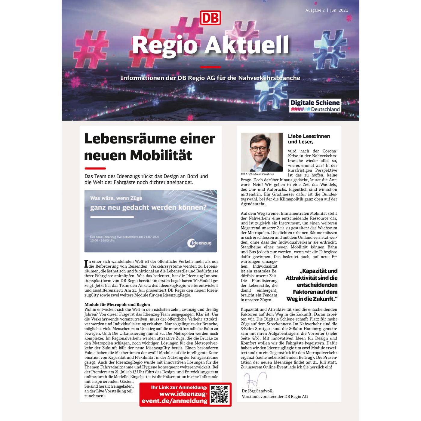 RegioAktuell 2/21 Cover